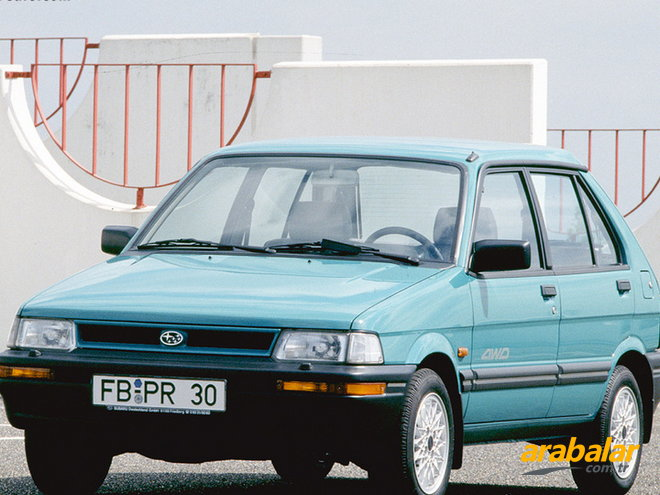 1992 Subaru Justy 3K 1.2 GLI Four Fun